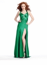 Long Halter Prom Dress with Slit 1370