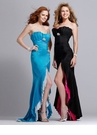 Strapless Ruffle Prom Dress 1382