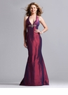 Taffeta Halter Mermaid Prom Dress 1397