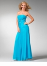 Strapless Turquoise Prom Dress 1533