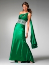 One Shoulder Charmeuse Prom Dress 1546