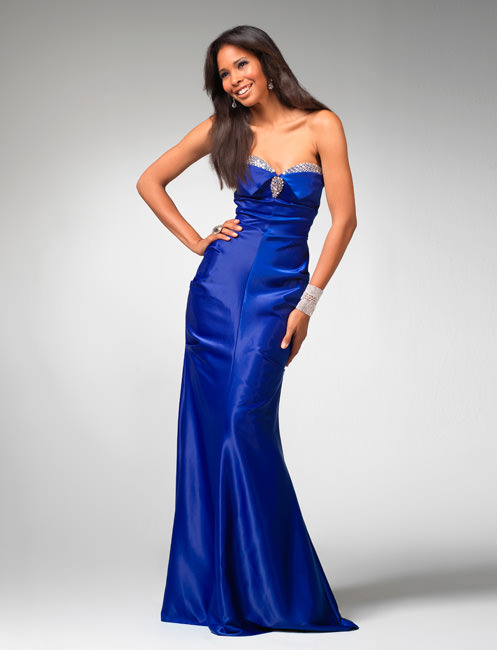 Fitted Blue Prom Dresses