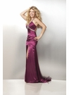 Burgundy Satin Prom Dress 17202