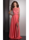 Elegant Coral Evening Gown 2532