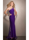 Purple One Shoulder Prom Dress 2584