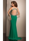 Green Sheer Prom Dress 2617