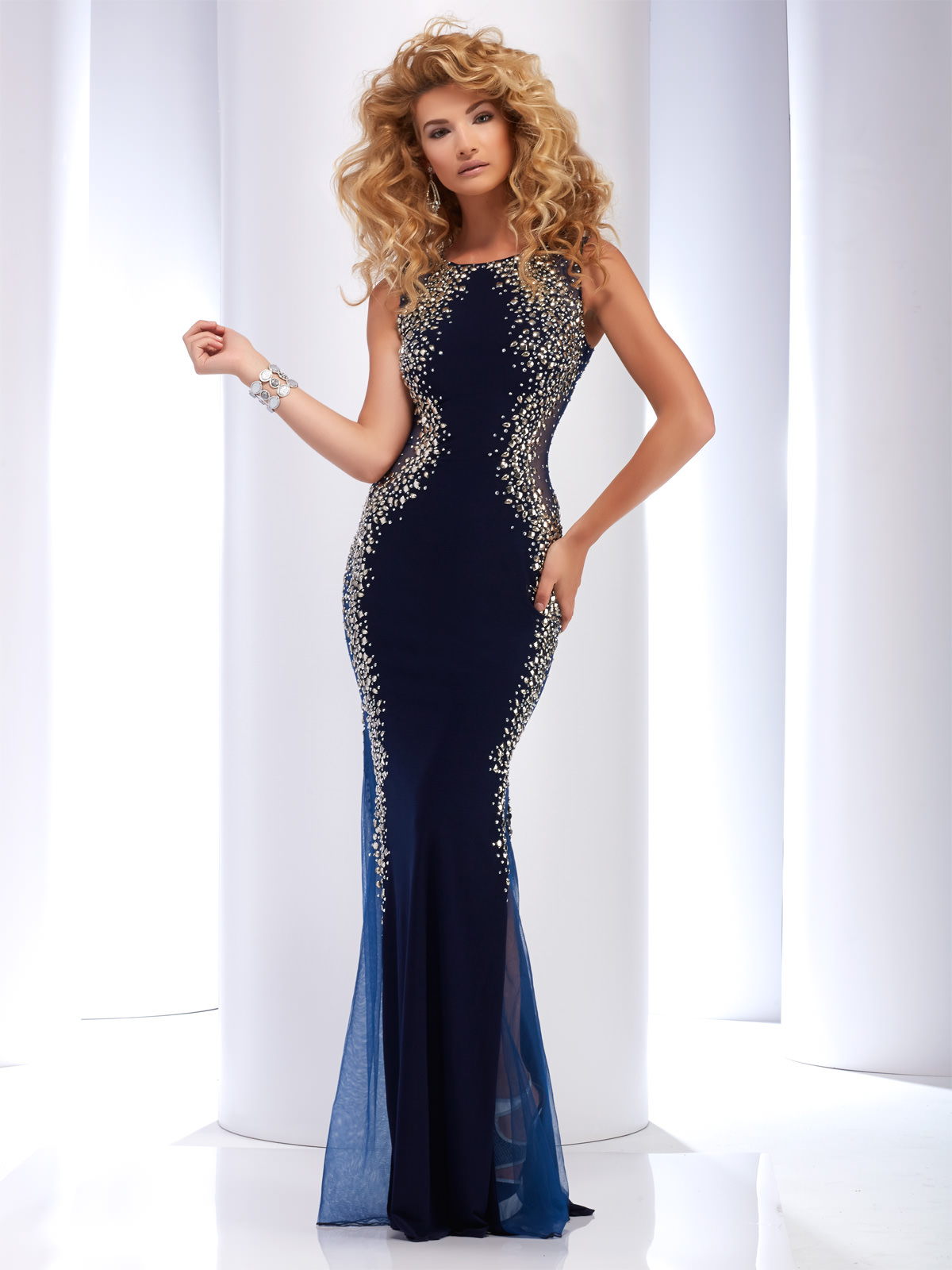 Sheer Prom Dress 2627- 2 colors!