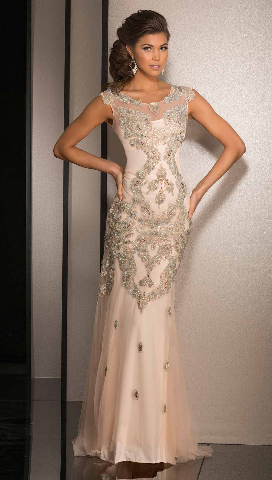Champagne Prom Gowns