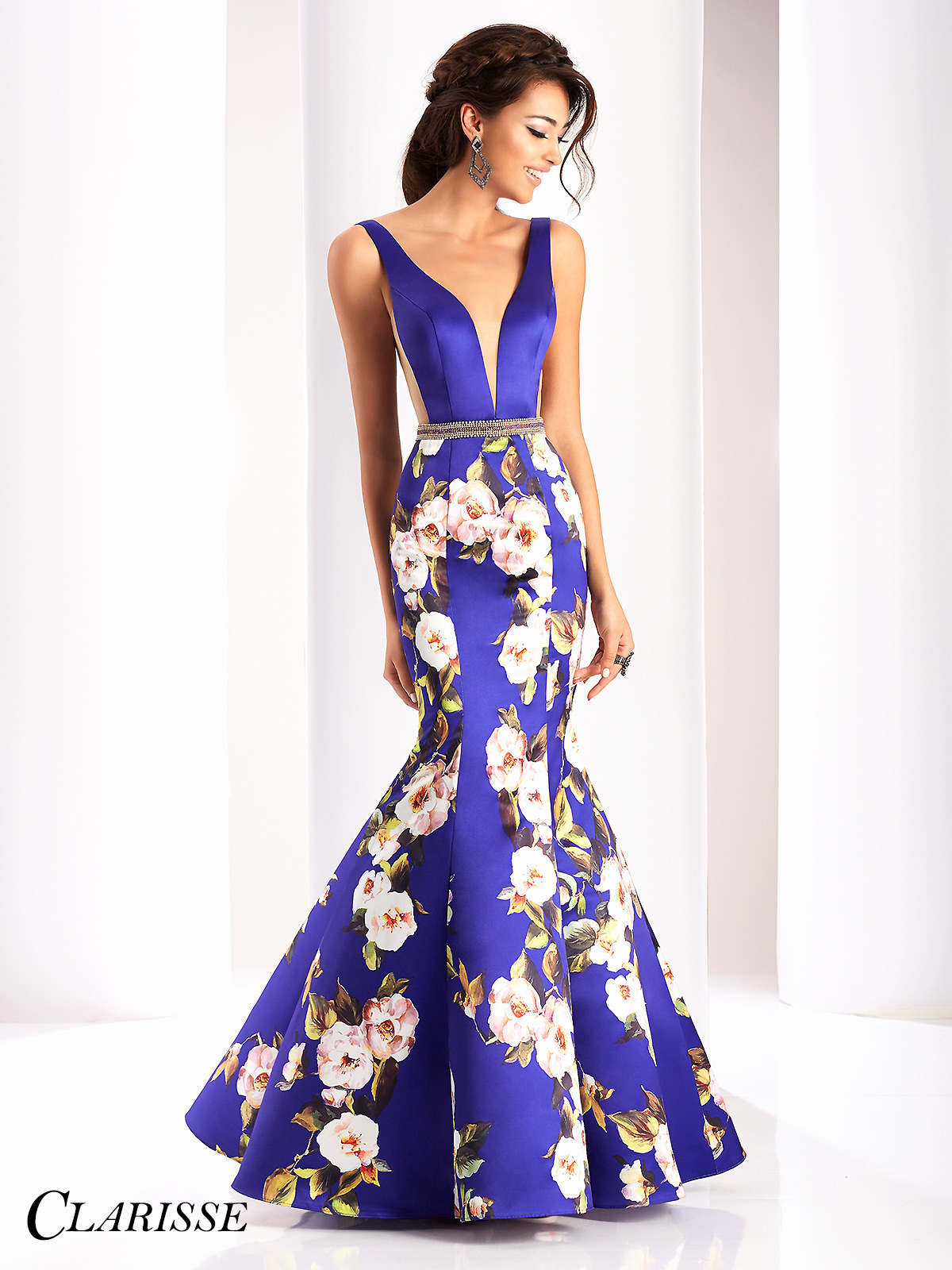 Clarisse prom dress 4813 promgirl clarisse purple floral mermaid prom dress 4813 mightylinksfo
