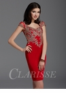 Clarisse Red Cocktail Dress 2927