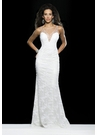 White Sequin Prom Gown 2406