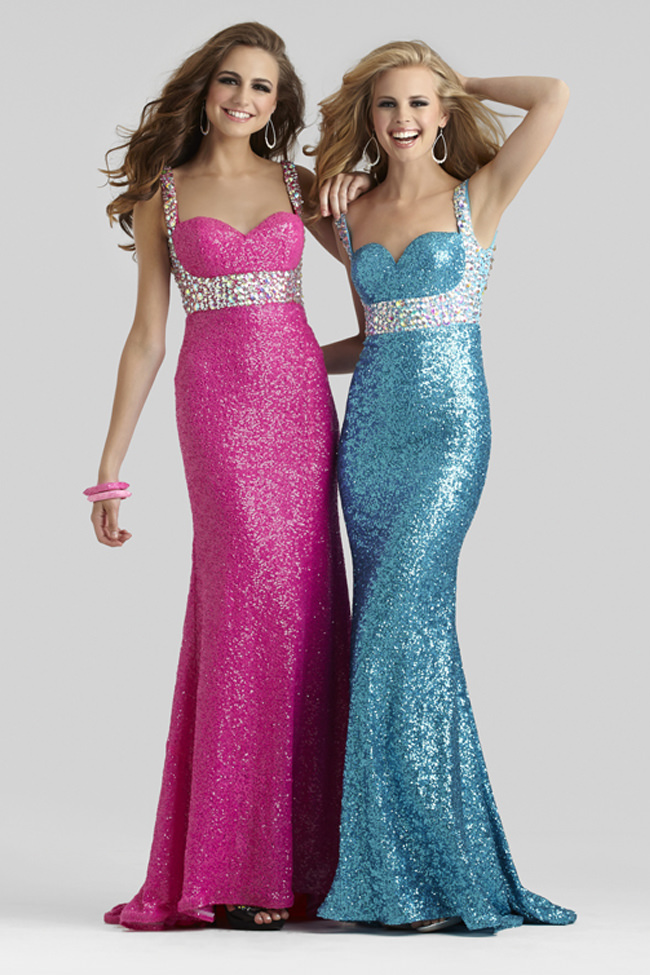 Clarisse 2014 Shimmer Turquoise Wild Pink Sweetheart Open Back ...
