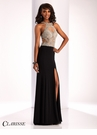 Clarisse Sheer Beaded Prom Dress 3184