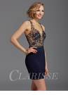 Clarisse Sheer Embellished Homecoming Dress 2941- Two Colors!