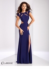 Clarisse Short Sleeve Cut Out Prom Dress 3089