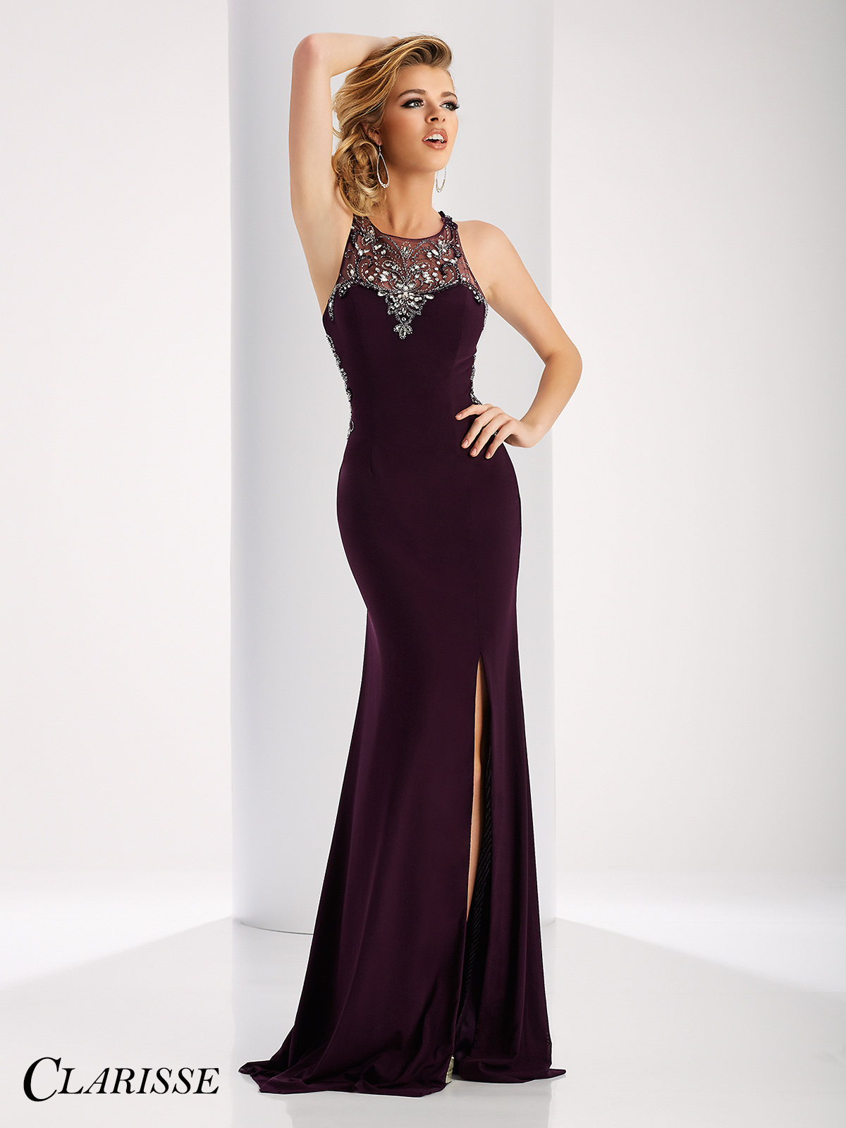 Clarisse Sparkling Embellished Prom Dress