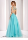 Sparkling V-Neck Ball Gown 3019