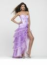 Strapless Ruffle Prom Dress 2171