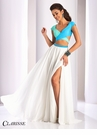Clarisse Two Piece Color Block Prom Dress 3070