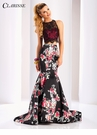 Clarisse Two Piece Print and Lace Dress 3209