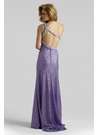 Purple Sequin Prom Dress 2320