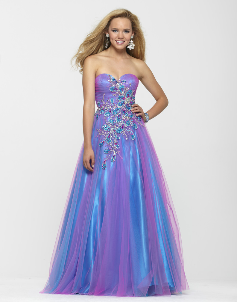 Clarisse 2013 Cotton Candy Blue Pink Strapless Sweetheart Tulle