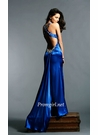 Glamorous Royal Blue Charmeuse Prom Dress 772
