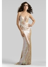 Elegant Racer Back Sequin Gown 2318