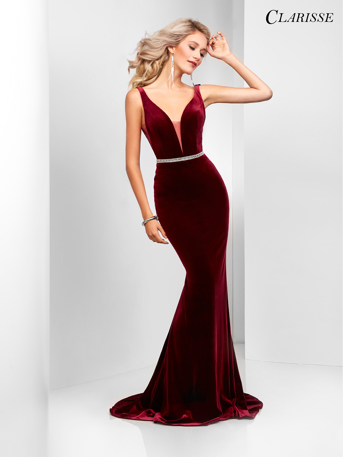 Elegant Velvet Prom Dress 3469 3 Colors