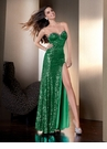 Envy Green 2012 Prom Gown 2105