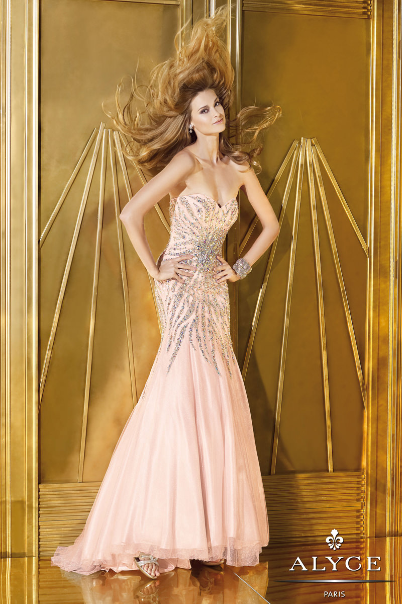 Fabulous Pink Prom Dress 6166 By Alyce