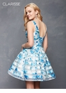 Feminine Floral Striped Homecoming Dress 3608 | 2 colors!