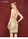 Fitted Metallic Lace Homecoming Dress 3675| 3 Colors!