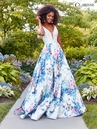 Floral A-line Prom Dress 3538