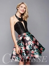 Floral Print Homecoming Dress 3302