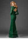 Long Sleeve Lace Evening Gown M6431