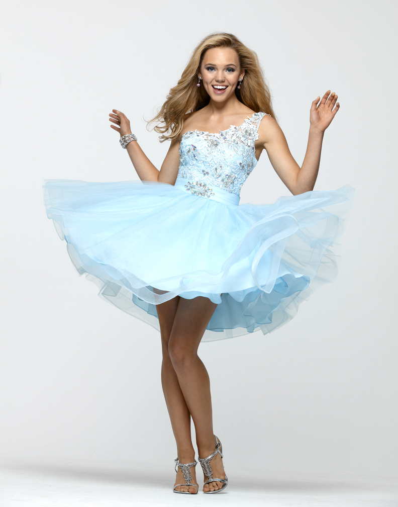 Clarisse 2013 Baby Blue Baby Doll Short Lace Tulle Beaded Prom Dress ...