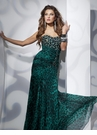 Green Leopard Print Tony Bowls Prom Dress 112700