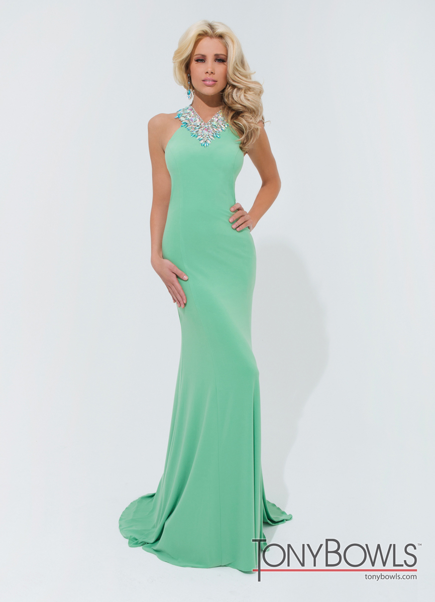 Green Tony Bowls Prom Dress 114715
