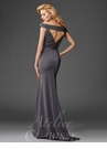 Gunmetal off the Shoulder Evening Gown M6418