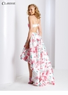 Halter High Low Floral Prom Dress 3564