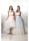 High Low White Feather Prom Dress 17123