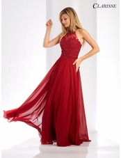 High Neck A-line Evening Gown 3528 | 5 Colors!
