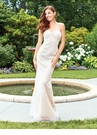 Ivory and Champagne Embroidered Evening Gown 4904