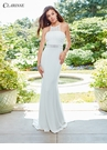 Ivory Mesh Detail Evening Gown 3534