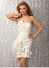 Ivory Tafetta 2012 Short Dress 17105