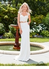 Ivory Two Piece Satin Dress 4919