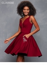 Jeweled Pocketed Satin Homecoming Dress 3613 | 4 colors!