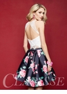 Lace and Floral Two Piece Homecoming Dress 3303