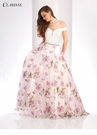 Lace and Lavender Floral Ball Gown 3419